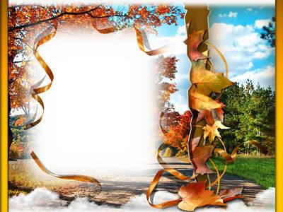 Frame for photoshop - Transition from summer to fall