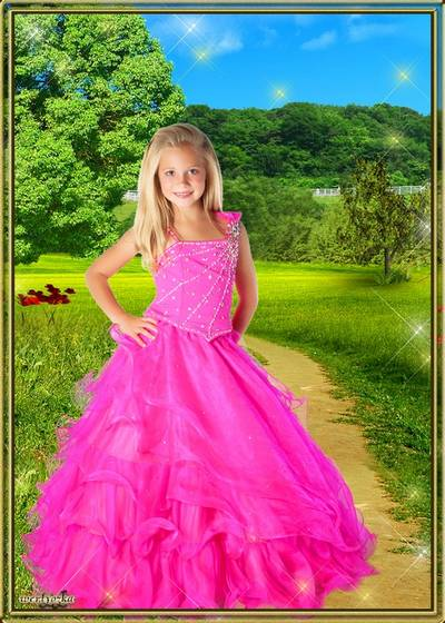 Templates for photoshop - Child's good-looking dresses for girls