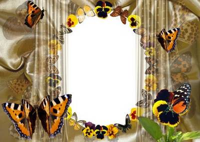 Frame the Kiss of butterflies