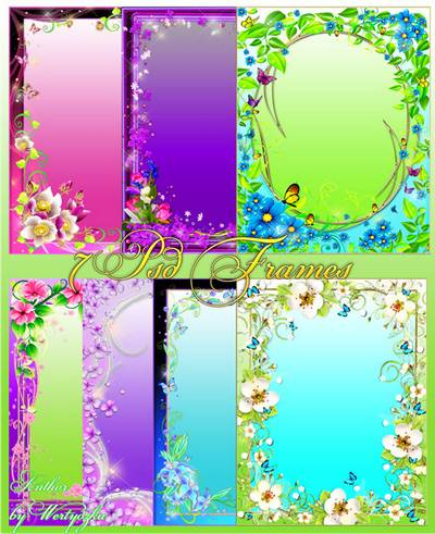 Frames for Photoshop - Flower Paradise