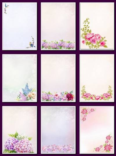Flower Background - 76 png images Floral Backgrounds, A4, 1240х1753 px