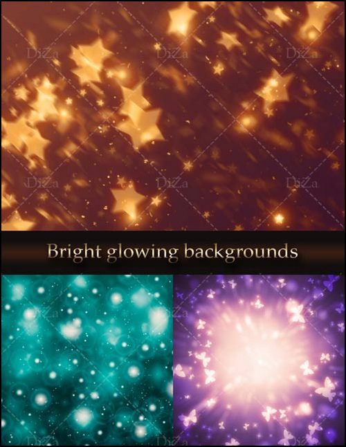 Bright glowing backgrounds