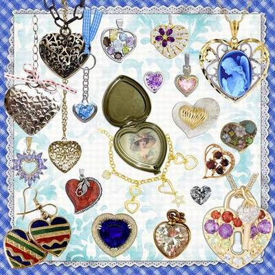 Clipart PNG Images Heart - 140 PNG Hearts, jewelry on a transparent background