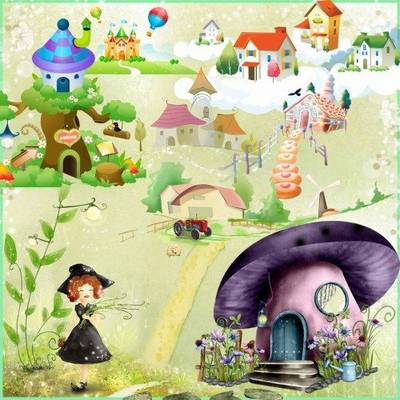 Baby Fairy house - 79 PNG files, 163 images Fairy houses on a transparent background