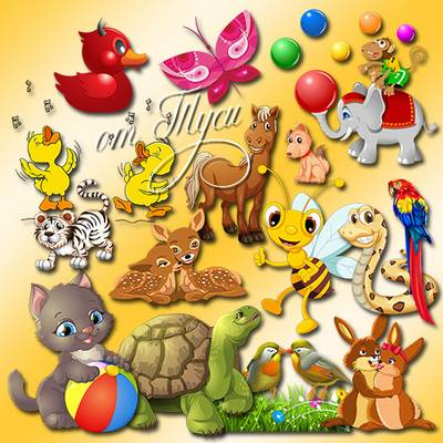 Children Toys clipart - Feast your eyes on the game funny animals