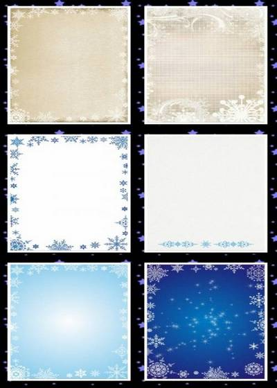 Winter backgrounds 15 png images for creative works, 1240х1753 px