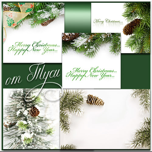 Clipart Winter background,  5 JPG, max 7000*6000 px