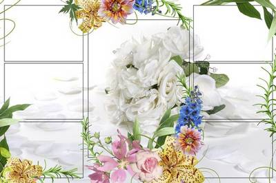 Flower Frame for Photoshop - Hearth