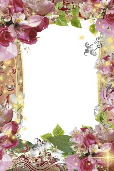 Flower Frame for Photoshop - Love and Happiness