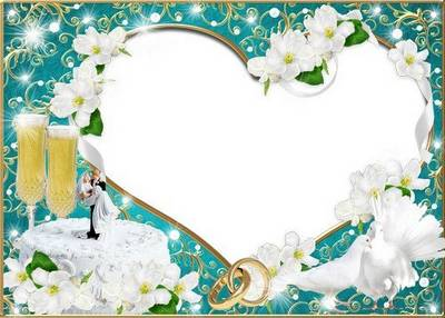 Wedding photo frame - Let the spring of love always lives in your hearts