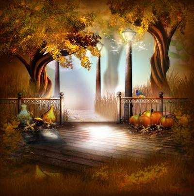 Autumn in the Park - fairy backgrounds