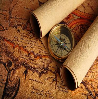 Old maps and compasses - backgrounds