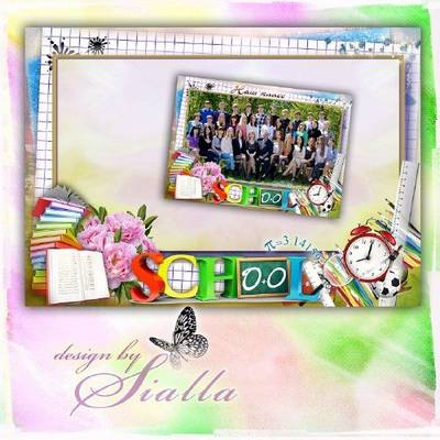 School Photo frame PSD + 2 PNG