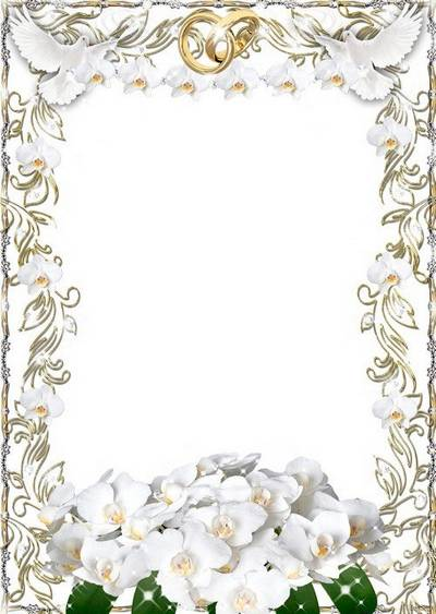 Photo frame - Wedding bouquet of orchids