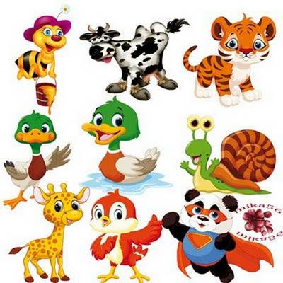 Free Children Clip art Cute animals - 47 png images, 3000х3000 px,