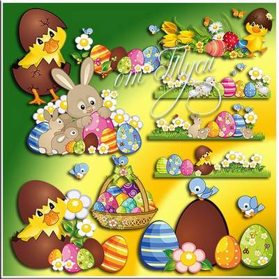 Free psd Clipart Easter download - Easter light came