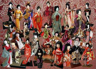 Free psd file Clipart Antiquarian Japanese dolls