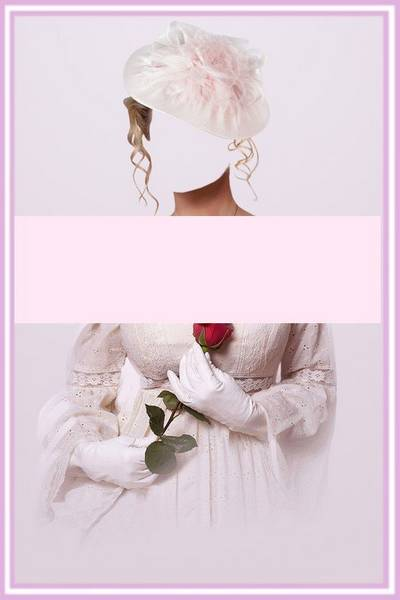Free Women suit psd for Photoshop - Lady with Flower free download