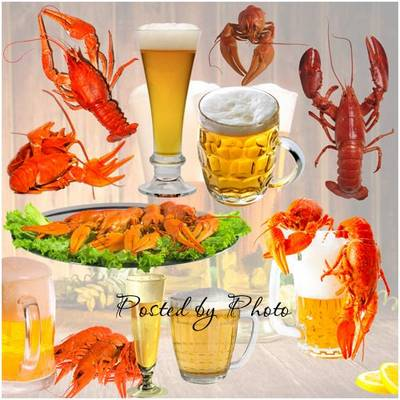 Free PNG images Beer mugs and boiled crawfish on a transparent background free download from google drive