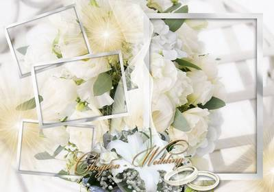Wedding Frame for four photos - White Wind Wedding