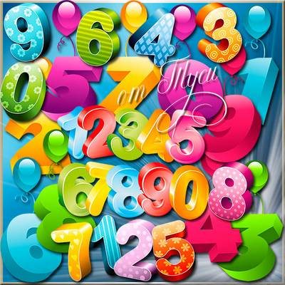 Numbers Clipart free psd file free download from google drive