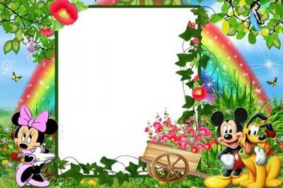 Free Baby photo frame for Rainbow day free download
