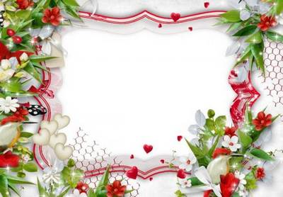 Free Flower Picture Frame psd + png format download