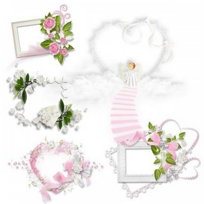 Free psd Clusters for wedding design - Romantic Angel free download