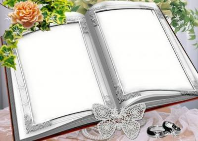 Free Wedding Book photo frame psd - How beautiful autumn and love free download