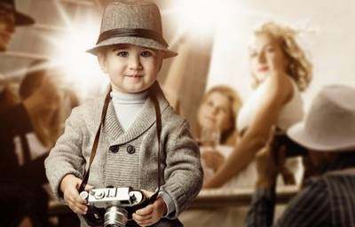 Great photoshop suit psd template boy Reporter free download