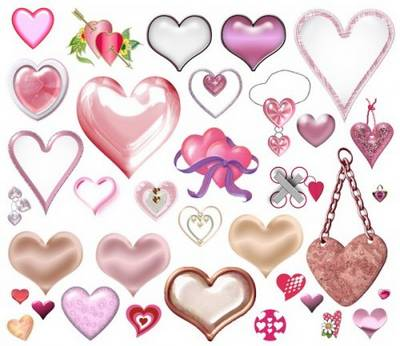 Clipart Valentine's Day – Hearts a transparent background free download