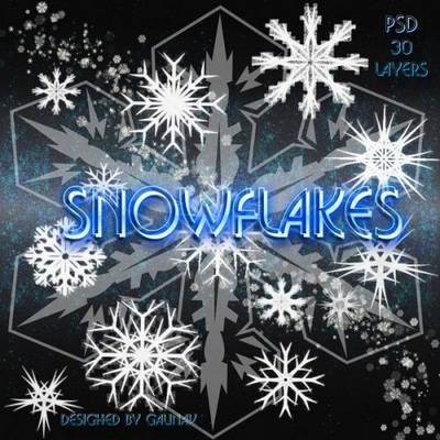 Free PSD Clipart Snowflakes free download