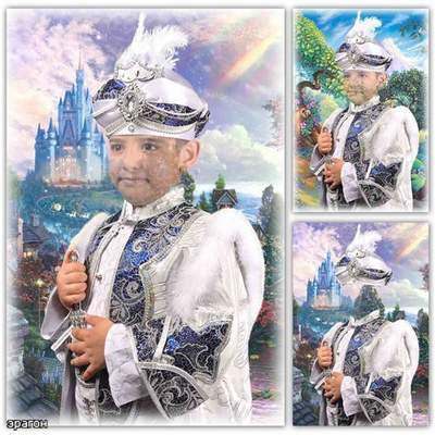 Children's template for Photoshop boys - in royal costume
