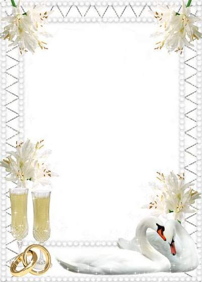 Free wedding photo frame template Two loving hearts free download