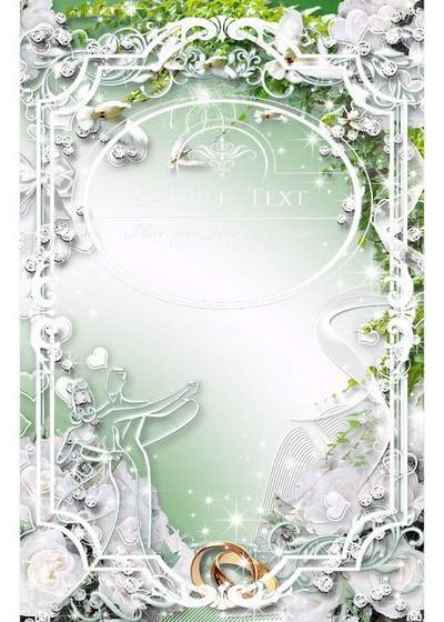 Frame for wedding photo - Your tender heart