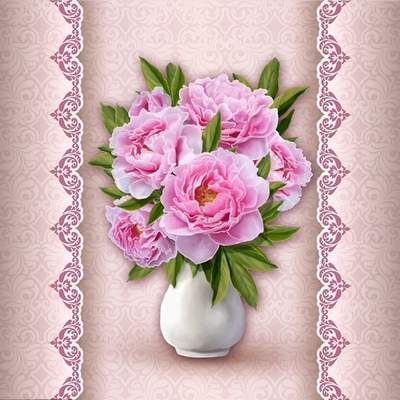 Free PSD source Bouquet of pink peonies free download