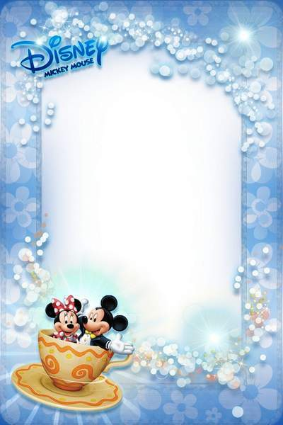 Frame for Photo with Mickey and Minnie - Happiness In Kids