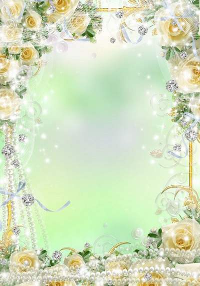 Wedding Frame - Amid the beautiful white roses do you