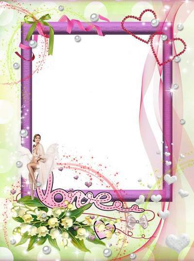 Love Frame Lily, pearl flower free download