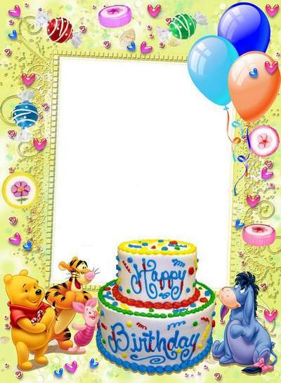 Frames for Kids - Cards on Birthday Party