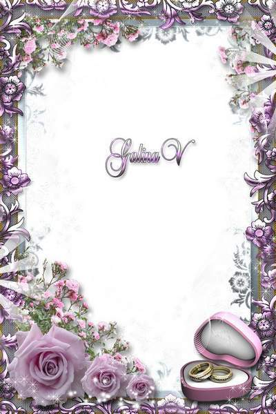 Wedding Frame - Pink Roses for Hapiness free download