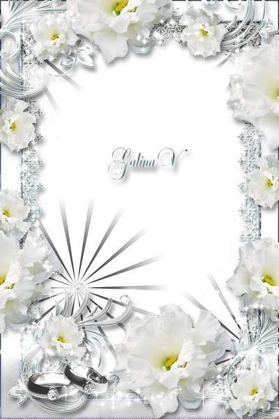 Wedding Frame - Innocence of White Roses