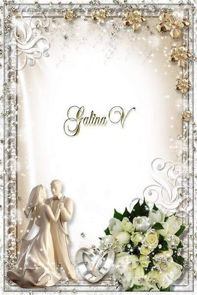 Photoframe Photoshop photo frame psd png Luxury Wedding free download