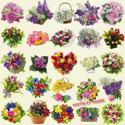 Flower Clipart PSD file bouquets of flowers free download