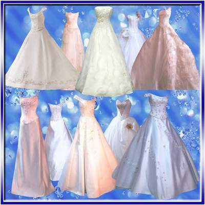 Beautiful wedding dresses 10 psd - Clothing Clipart free psd file free download