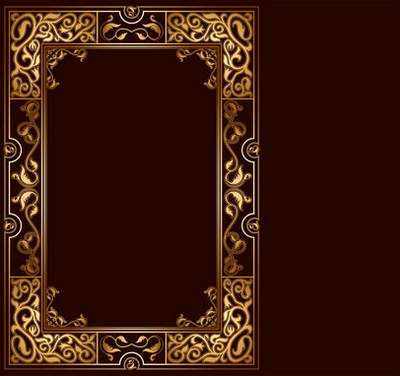 Gold Frame psd cutouts for photoshop free download
