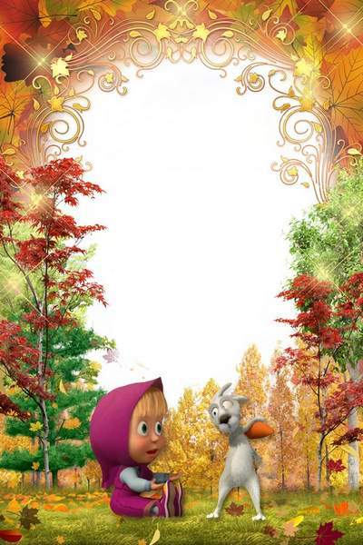 Kid's Frame - Masha and Hare in Autumn Wood, free download