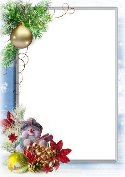 Free picture frame for baby with Snowman free download