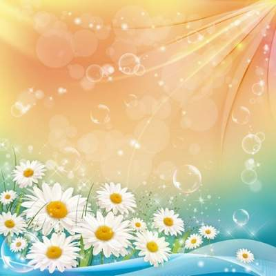 Free PSD background Chamomile and light Waves free download