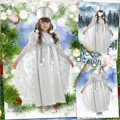 Children's template for girls - Maiden